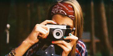 Woman Camera Photographer Old Vintage Retro