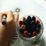 Crayons Coloring Book Coloring Hand Colors